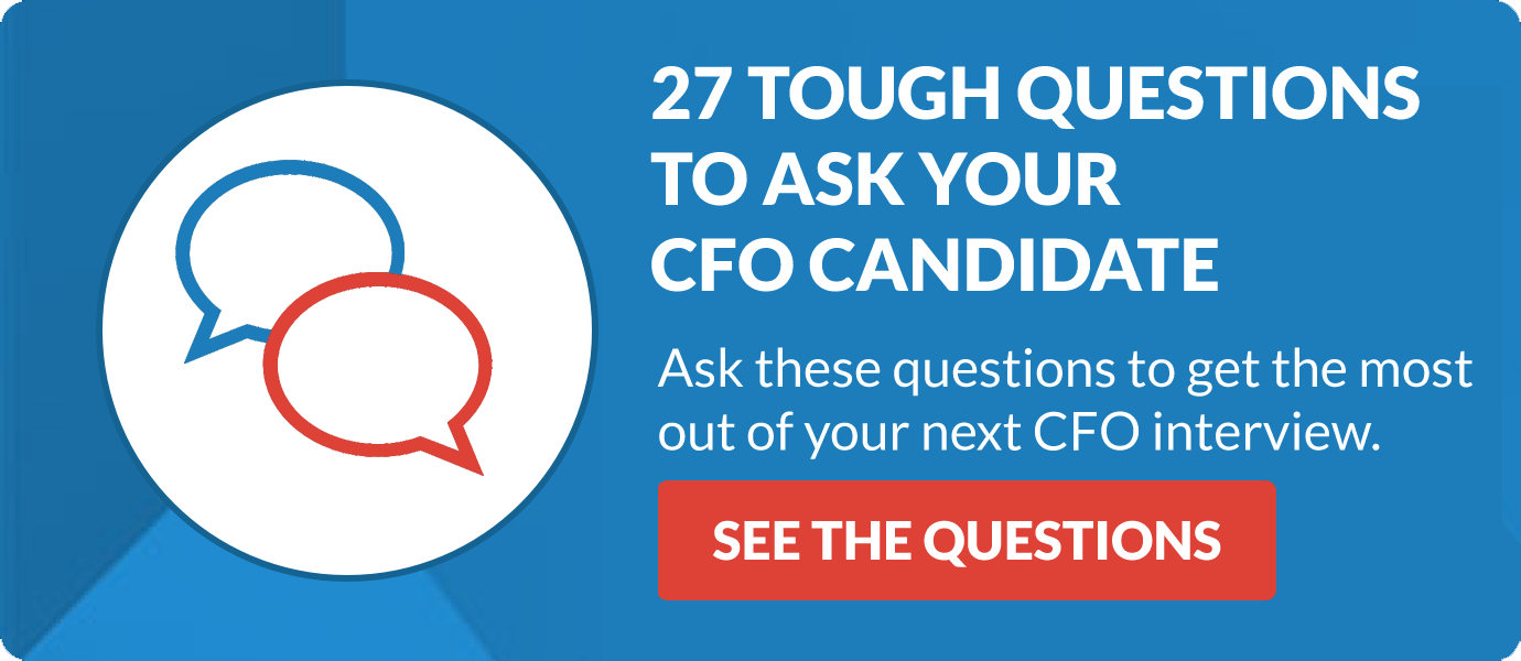 27 Questions To Ask Your CFO Candidate